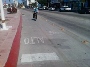 Het fietspad in La Paz
